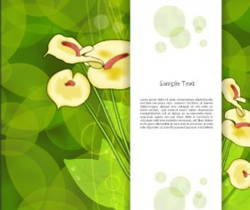 Creative Flowers and you text backgrounds vector 05