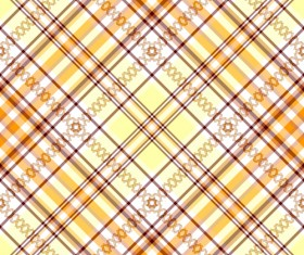 Fabric of Cross pattern design vector 03