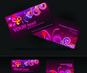 Brilliant Business card design vector 01