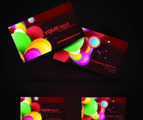 Brilliant Business card design vector 03