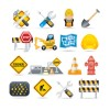 Different Danger Signs vector icons set 05