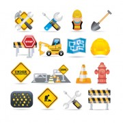 Link toDifferent danger signs vector icons set 05