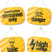Link toDifferent danger signs vector icons set 06