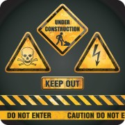 Link toDifferent danger signs vector icons set 07