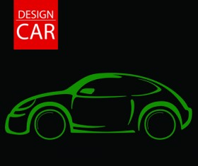 Set of car Design elements vector graphic 01