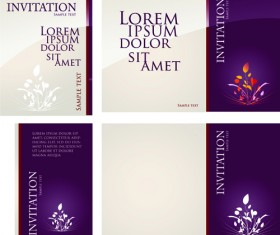 Different invitation cover design vector