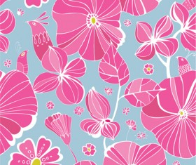 Vivid Flower patterns design elements vector 01