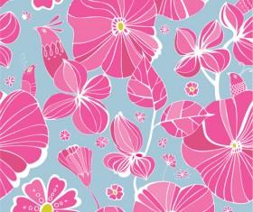 Vivid Flower patterns design elements vector 01