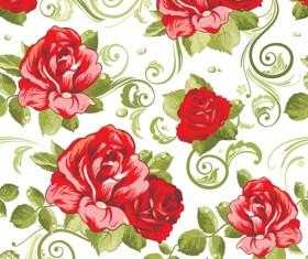 Vivid Flower patterns design elements vector 02