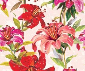 Vivid Flower patterns design elements vector 05