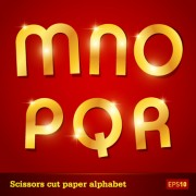 Link toSparkling alphabet design elements vector 02