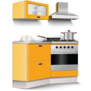 Link toSet of kitchen furniture design elements vector 01