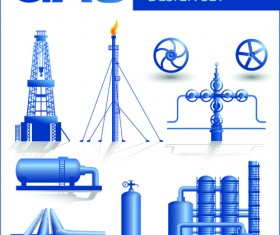 Set of Gas and oil design elements vector 02