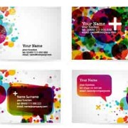 Link toStylish gift cards vector material set 02