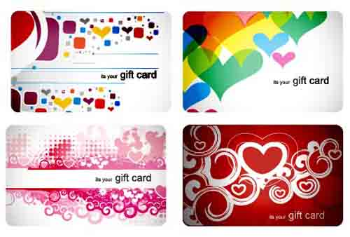 Stylish Gift Cards Vector Material Set 03 Free Download