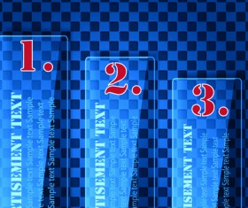 numbered Glass banner vector set 02