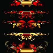 Link toLuxurious gold design elements vector labels 02