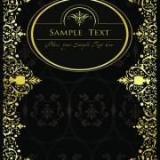Link toGold lace frame vector set 01