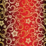 Link toGolden swirls floral pattern background design vector 02