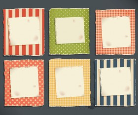 Grunge Object label paper vector 03