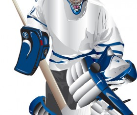 Set of Hockey design elements vector 02