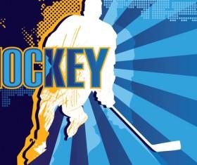 Set of Hockey design elements vector 03