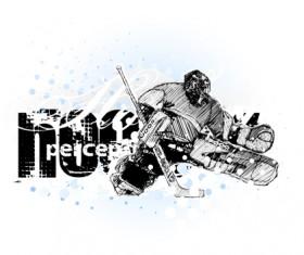Set of Hockey design elements vector 04
