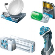 Link toDifferent appliances icon vector set 04