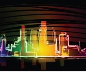 Neon light Illustrations vector set 01