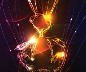 Neon light Illustrations vector set 05