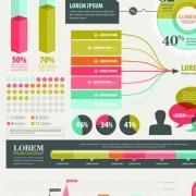 Link toBusiness infographic design elements vector material 02