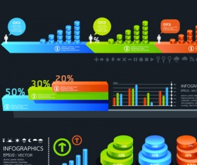 Business Infographic and diagram vector graphics 01