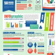 Link toBusiness infographic and diagram vector graphics 03