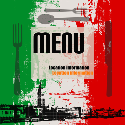 Retro Italian Menu design vector set 01 - Vector Cover ...