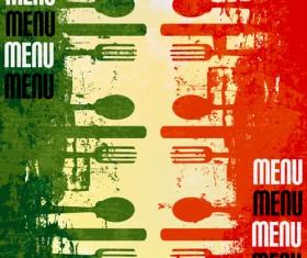 Retro Italian Menu design vector set 02