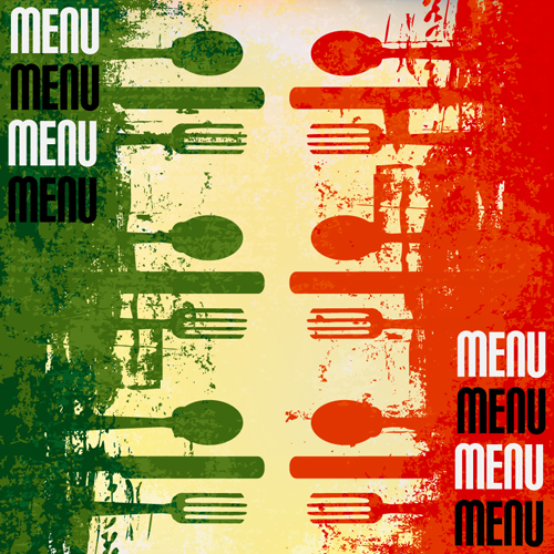 Retro Italian Menu design vector set 02 - Vector Cover ...