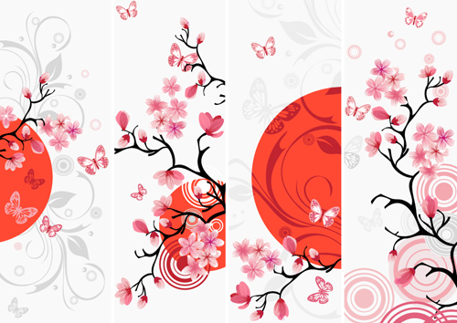 Japan Style Elements Vector Graphics 05 Free Download