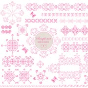 Link toSet of lace ornament mix vector 05