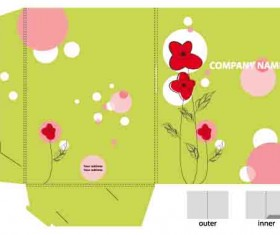 Set of Layout Packing box design elements vector 01