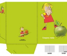 Set of Layout Packing box design elements vector 02