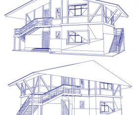 Set Layout of the building design vector graphics 05
