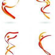 Link toSports for logo people design vector 01