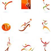 Link toSports for logo people design vector 06