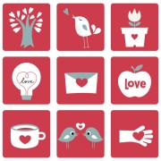 Link toSet of love theme icon mix vector 03