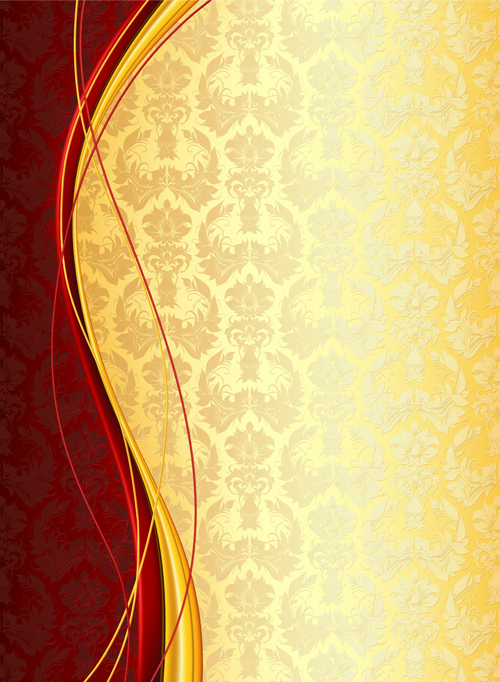 Luxury floral pattern background vector set 05 - Vector Background ...: freedesignfile.com/23061-luxury-floral-pattern-background-vector...