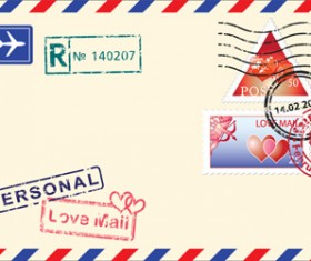 Vector Mail envelope elements set 04