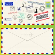 Link toVector mail envelope elements set 05