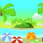 Link toBeautiful nature landscape lake vector graphics 02