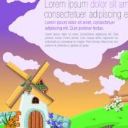 Link toBeautiful nature landscape lake vector graphics 03