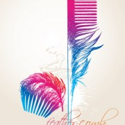 Link toSet of objects feathers design vector 02